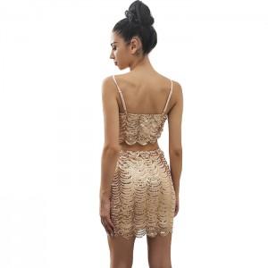 vestido2piezas lentejuelas dorado 3