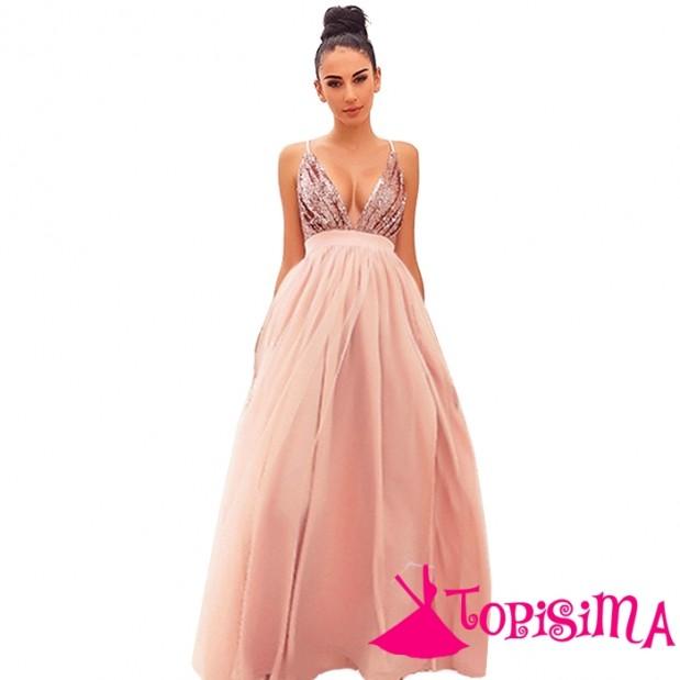 vestido rosado lentejuelas1