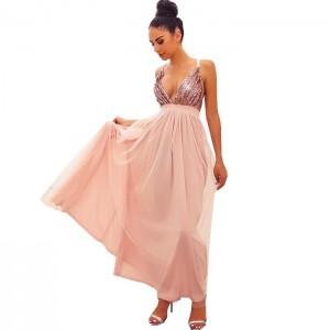 vestido rosado lentejuelas2