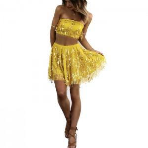 Vestido Mini amarillo 2 Piezas