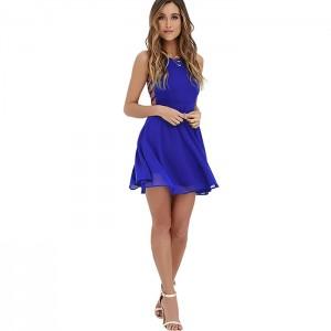 Vestido mini azulino