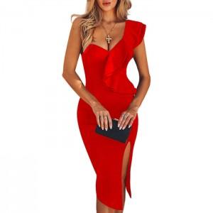 Vestido Midi Rojo