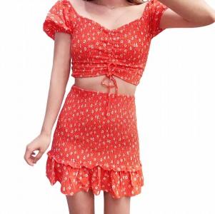 Vestido Mini Flores 2 Piezas